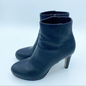 Nine West Leather Black Heel Ankle Boots, SIZE 7.5